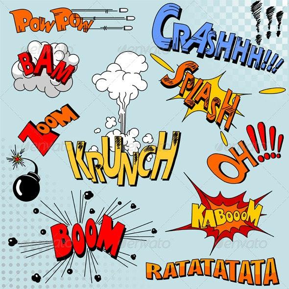 Comic Book Explosion - Web Elements Vectors