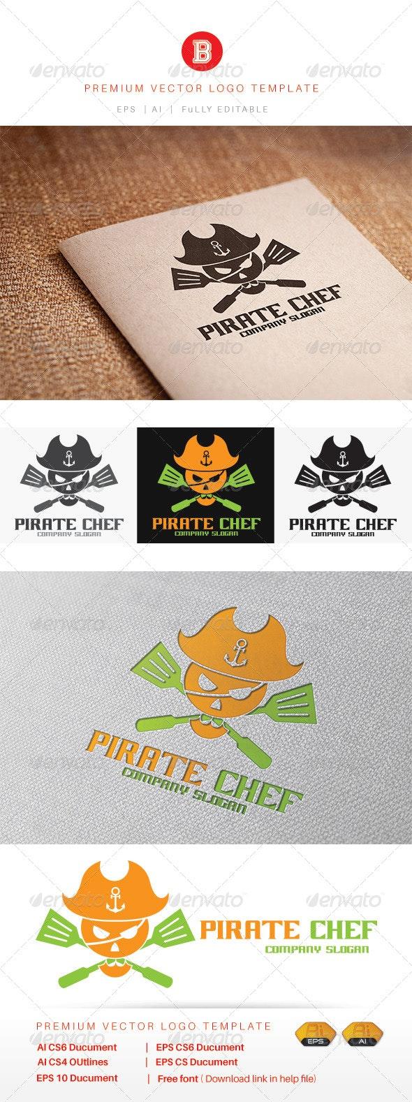 Pirate Chef - Food Logo Templates