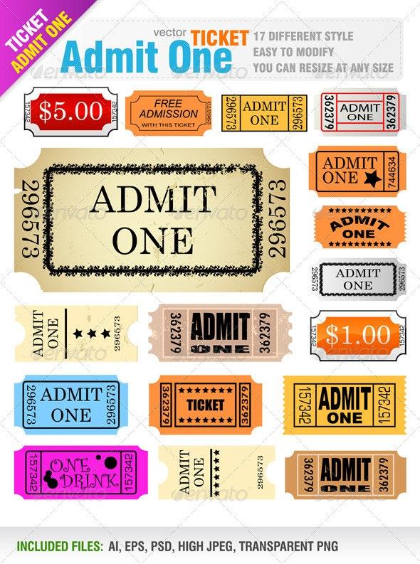 Tickets - Commercial / Shopping Conceptual