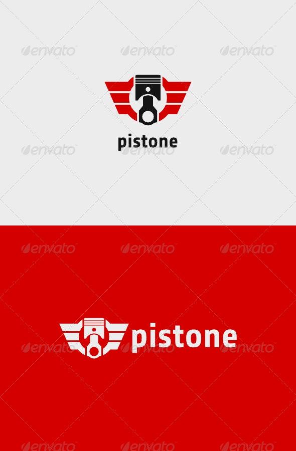 Piston Wings Logo - Objects Logo Templates