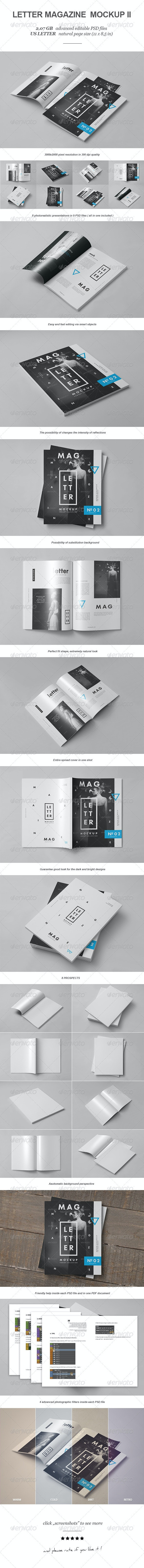 Letter Magazine / Brochure Mock-up II - Magazines Print