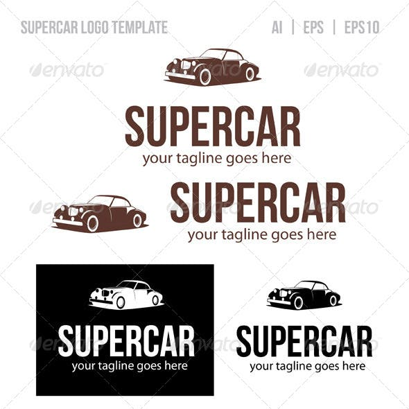 Super Car Logo Template