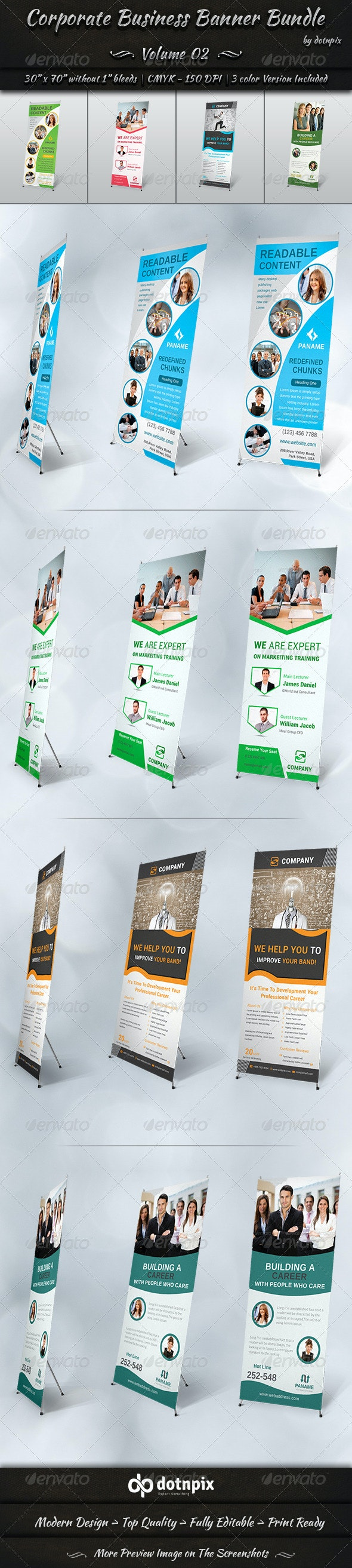 Corporate Business Banner Bundle | Volume 2 - Signage Print Templates