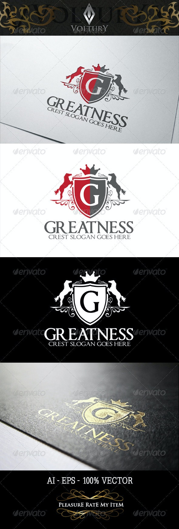 Greatness Logo - Letters Logo Templates