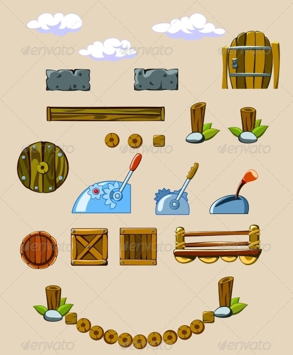 Set of Objects Surrounding - Man-made Objects Objects