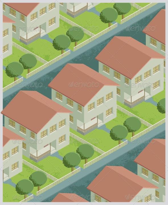 Residential Neighborhood - Miscellaneous Vectors