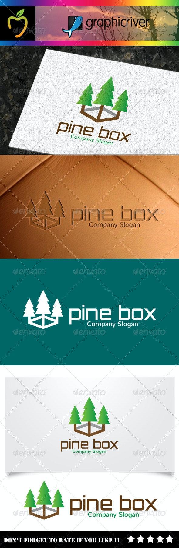 Pine Box Logo - Nature Logo Templates