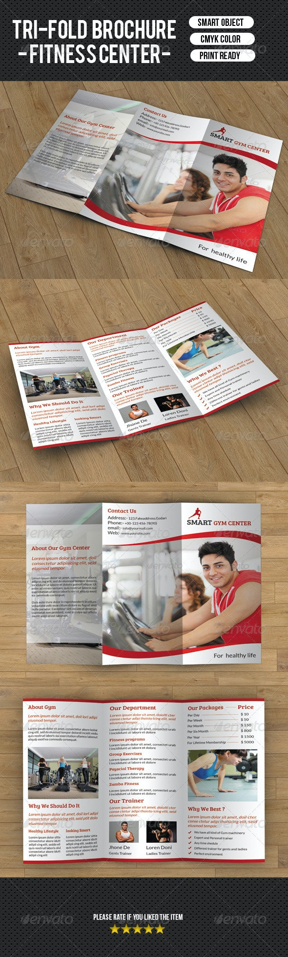 Tri-fold fitness brochure - Corporate Brochures