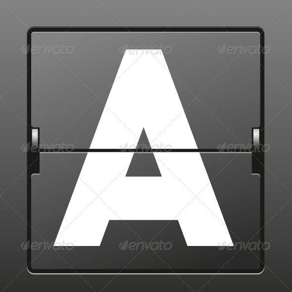 Vector Mechanical Scoreboard Alphabet