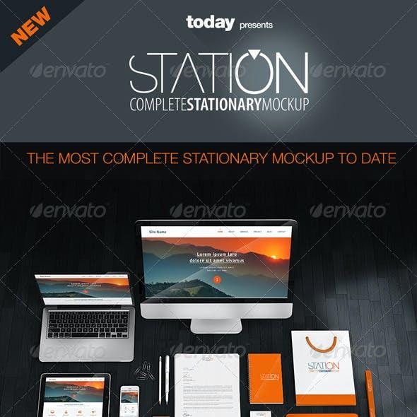 Station - Complete Stationary Mockup