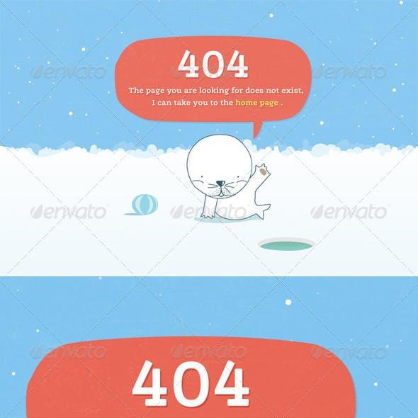Seal-404 Error Page