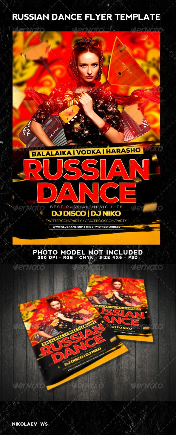 Russian Party Flyer - Clubs & Parties Events