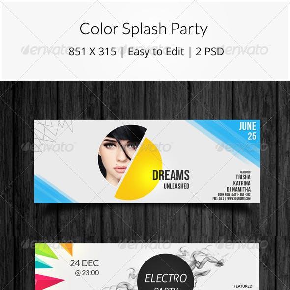 Color Splash Party Timeline