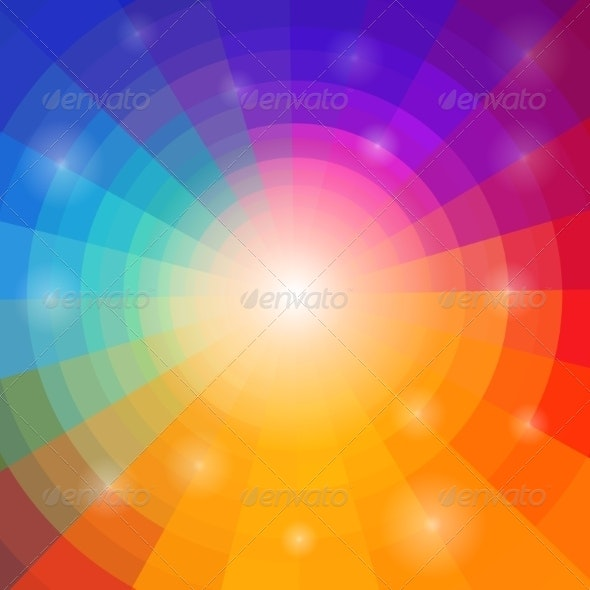 Abstract Circular Colorful Background - Backgrounds Business