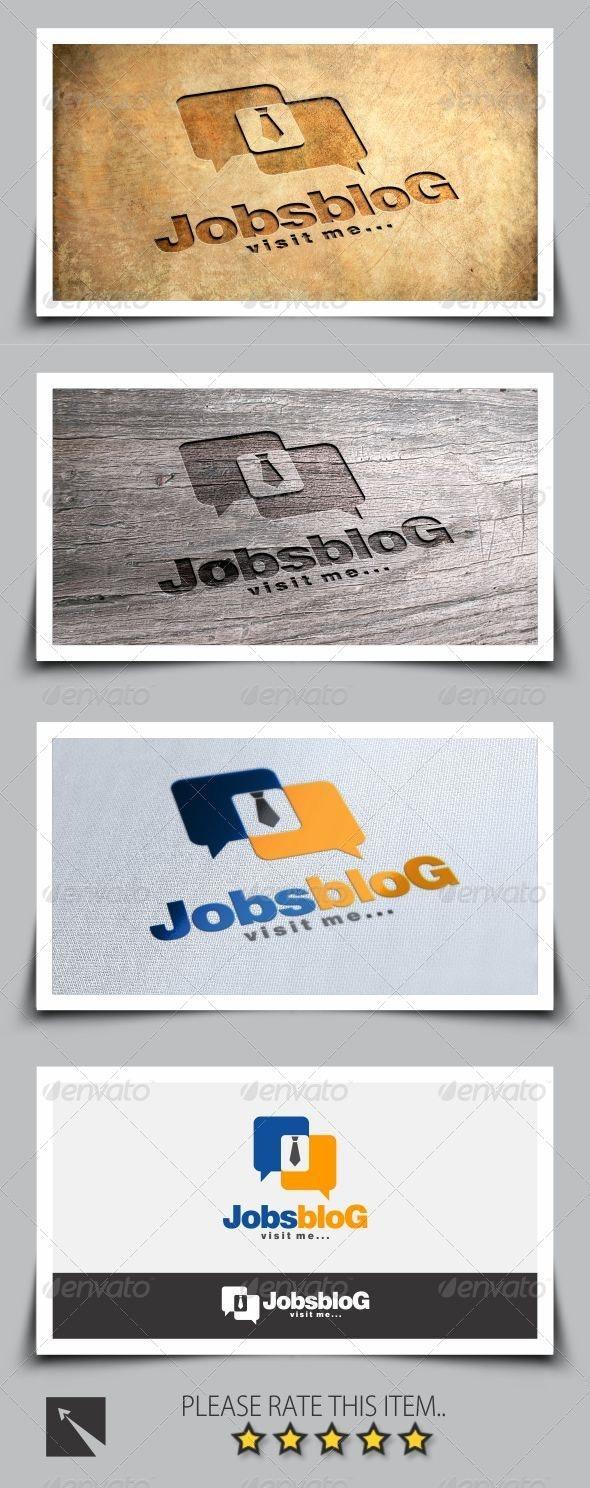 Job Blog Logo Template - Symbols Logo Templates