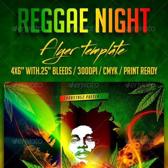 Reggae Night Flyer Template