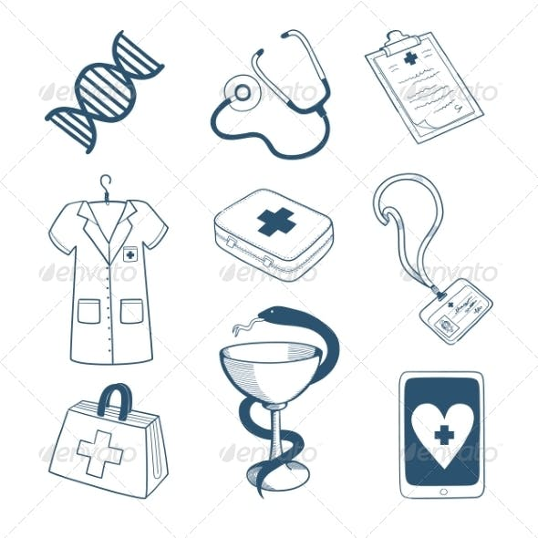 Medical Staff Icons Collection