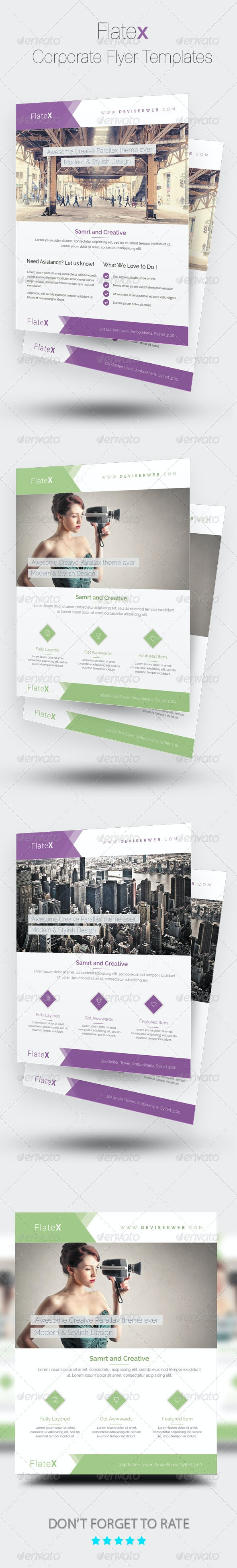 Flatex | Modern Corporate Flyer Templates - Corporate Flyers