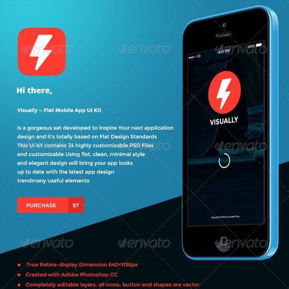 Visually l Flat Mobile App UI Kit