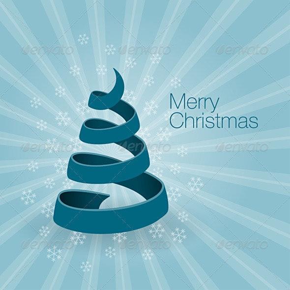 Blue Christmas Tree - Christmas Seasons/Holidays