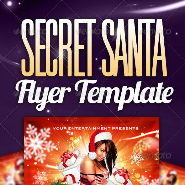 Secret Santa Party Flyer Template