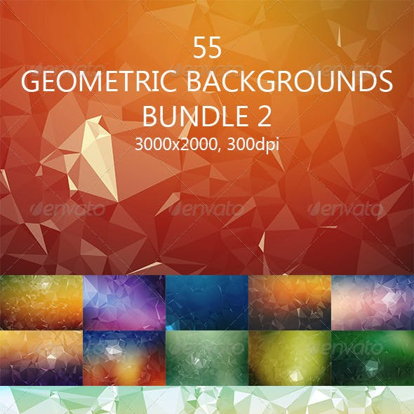 55 Geometric Backgrounds Bundle 2