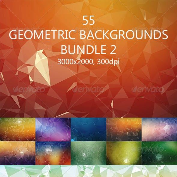 55 Geometric Backgrounds Bundle 2