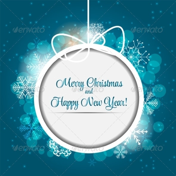 Happy New Year and Merry Christmas Background - Christmas Seasons/Holidays
