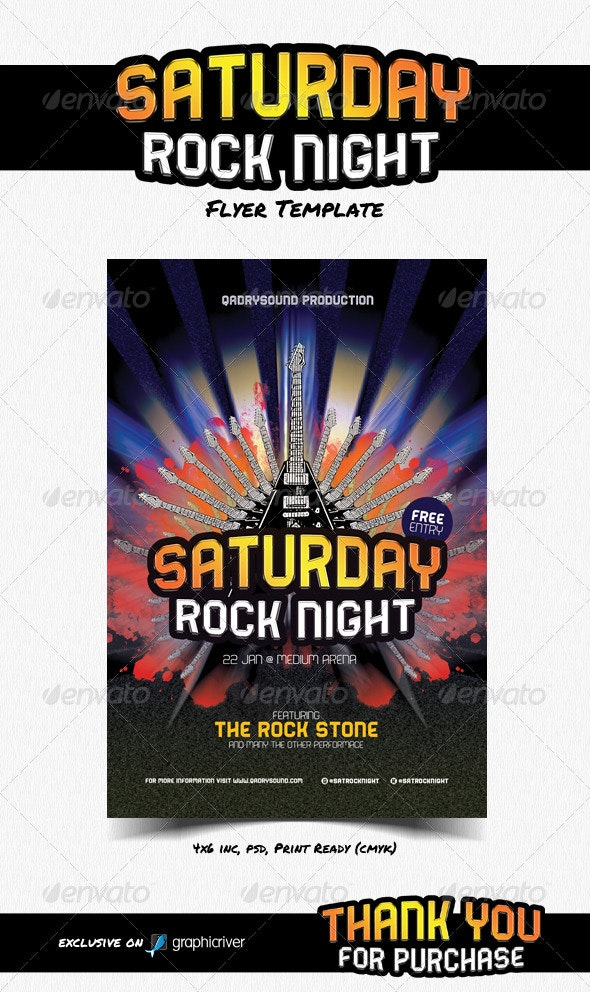 Saturday Rock Night - Clubs & Parties Events