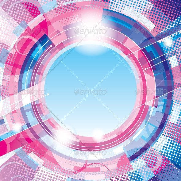 Abstract Circle Background - Technology Conceptual