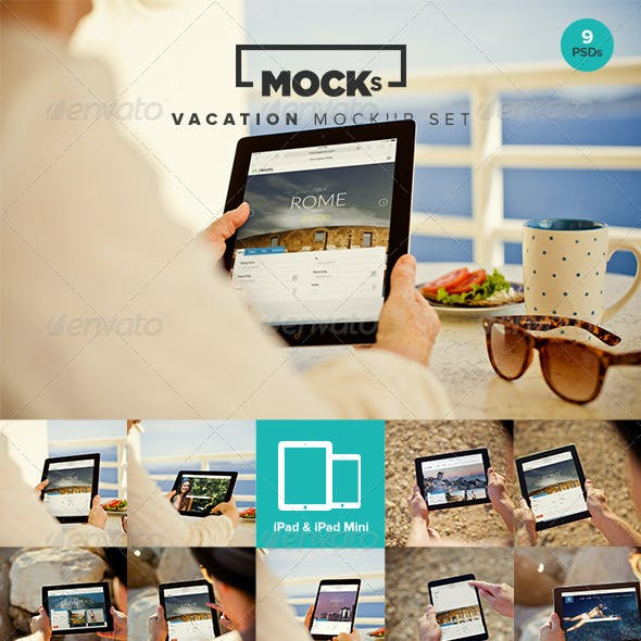 Photorealistic iPad Mockup Templates