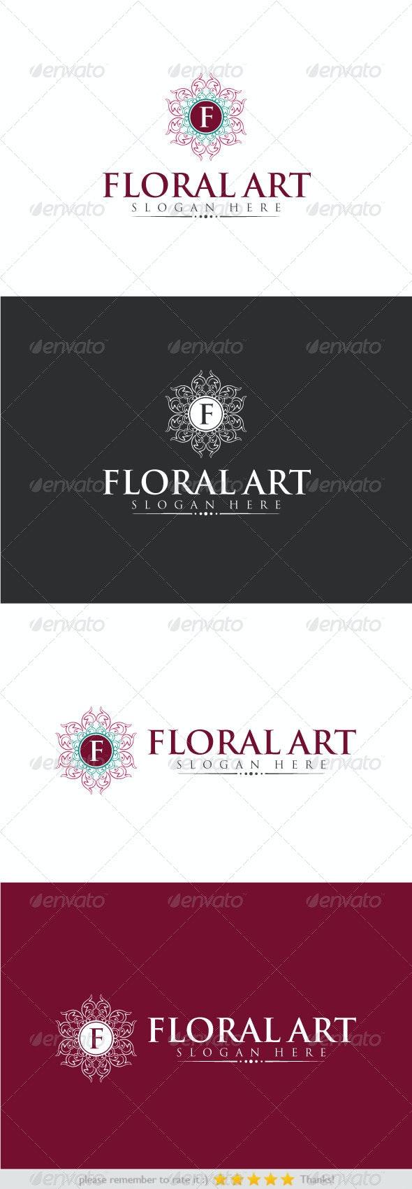 Floral Art - Crests Logo Templates