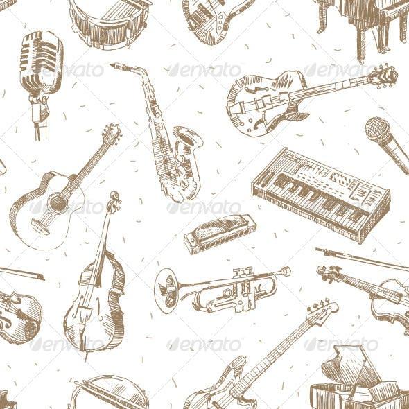 Music Instruments Pattern