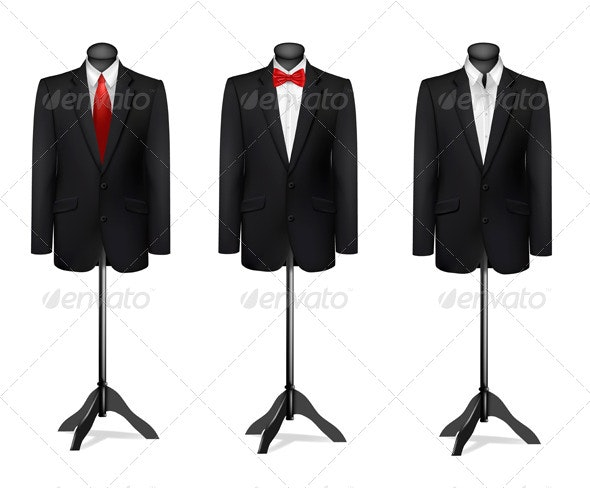 Three Different Suits on Mannequins - Commercial / Shopping Conceptual