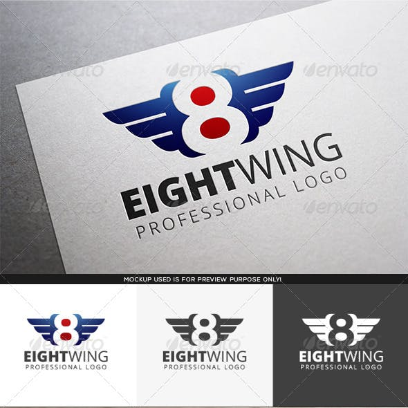 Eight Wing Logo Template