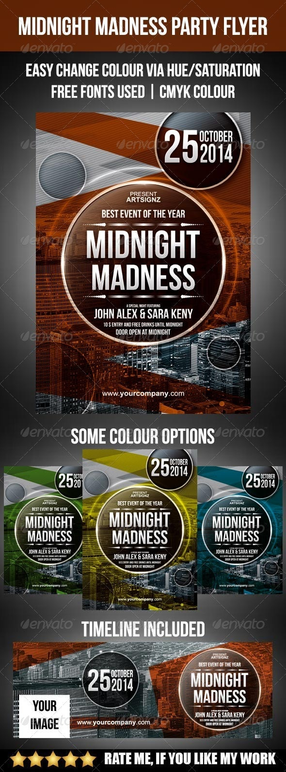 Midnight Madness Party Flyer - Clubs & Parties Events