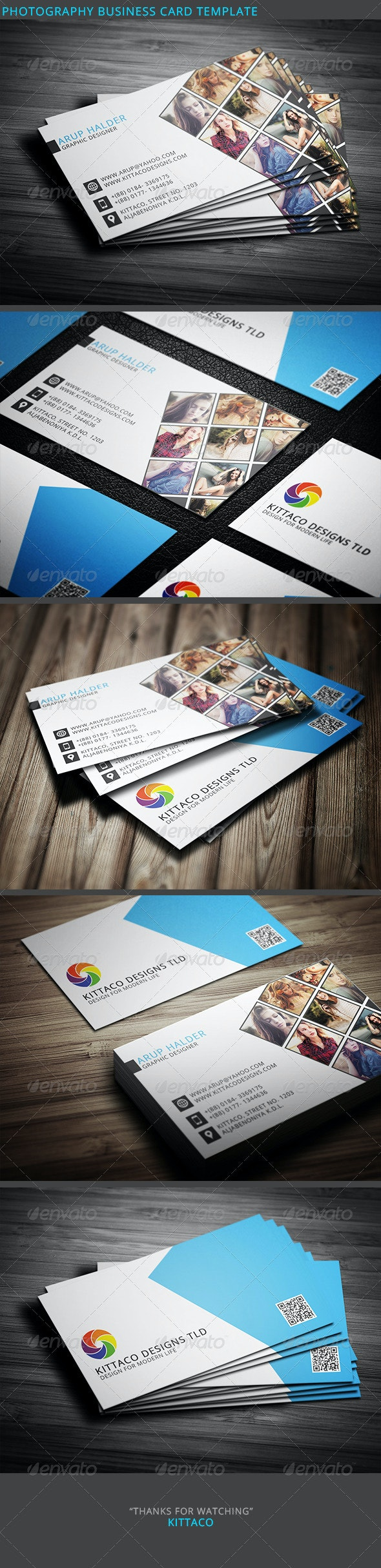 Photography Business Card Template 2 - Industry Specific Business Cards
