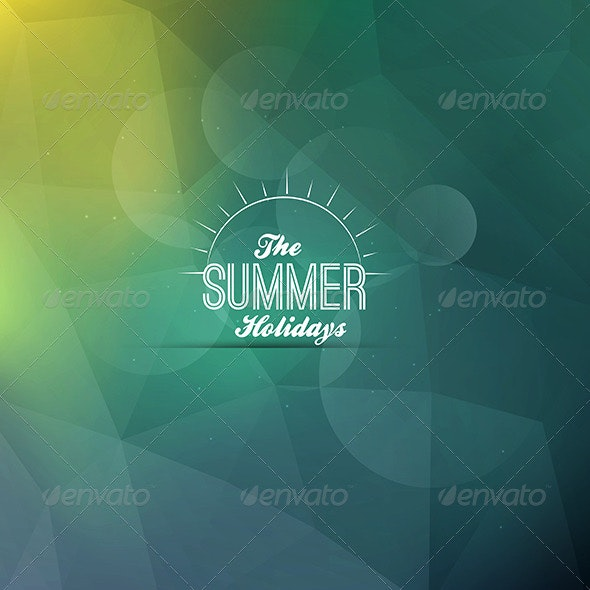 Vintage Summer Poster - Retro Technology