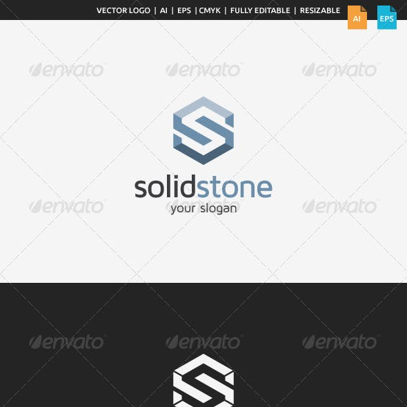 Solid Stone S Logo