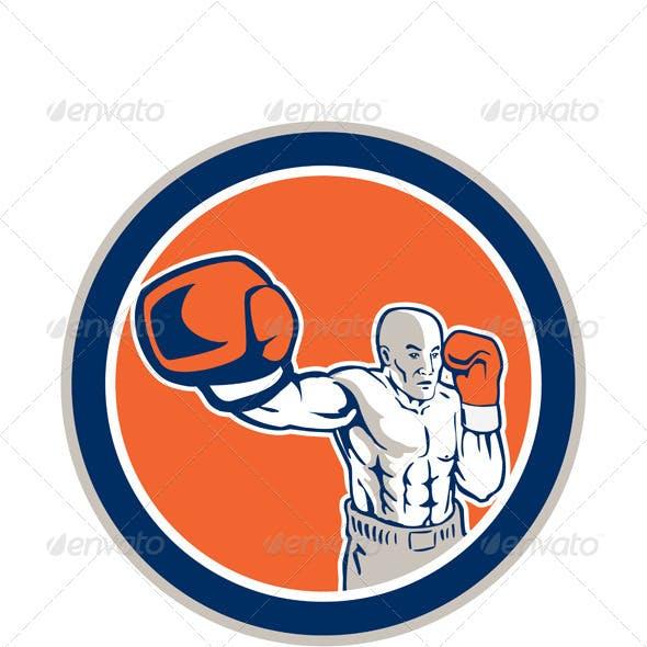 Boxer Boxing Jabbing in Circle