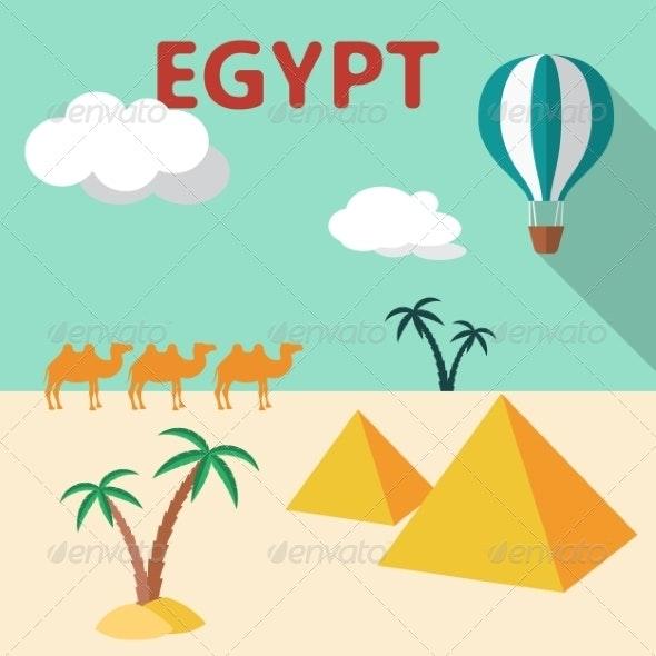 Egypt Travel Flat Design - Travel Conceptual