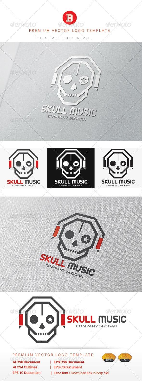 Skull Music - Humans Logo Templates
