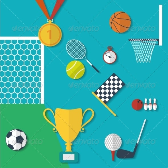 Flat Style Sports Equipment - Sports/Activity Conceptual