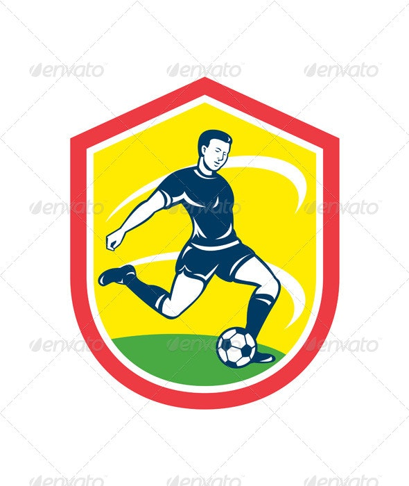 Soccer Player Shield - Sports/Activity Conceptual