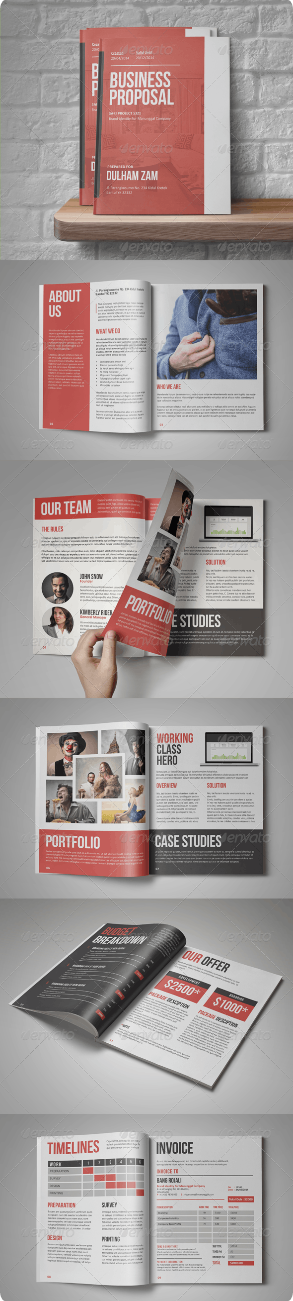 Sari Business Proposal - Proposals & Invoices Stationery