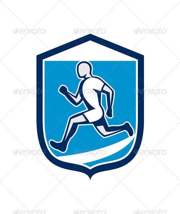 Sprinter Running Shield - Sports/Activity Conceptual