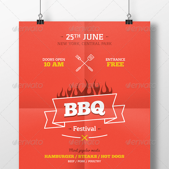 BBQ Party Poster Template