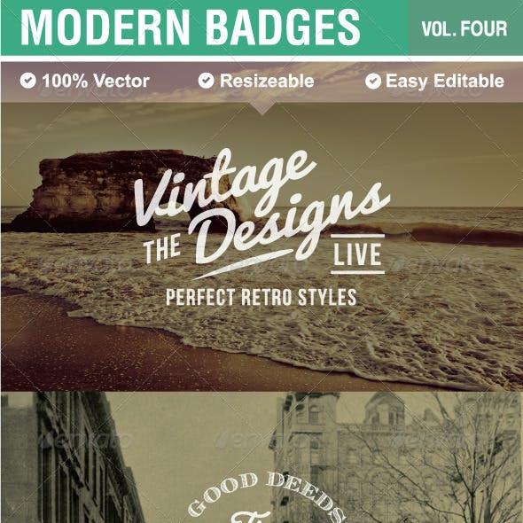 Modern Badges and Labels V4