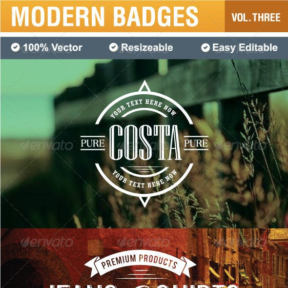Modern Badges and Labels