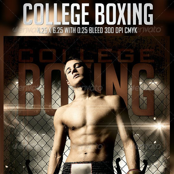 College Boxing Flyer Template